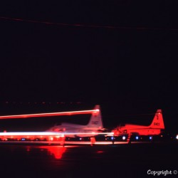 Night Jet Takeoff
