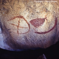 Pictograph at Paint Rock, Texas 1981 Photograph